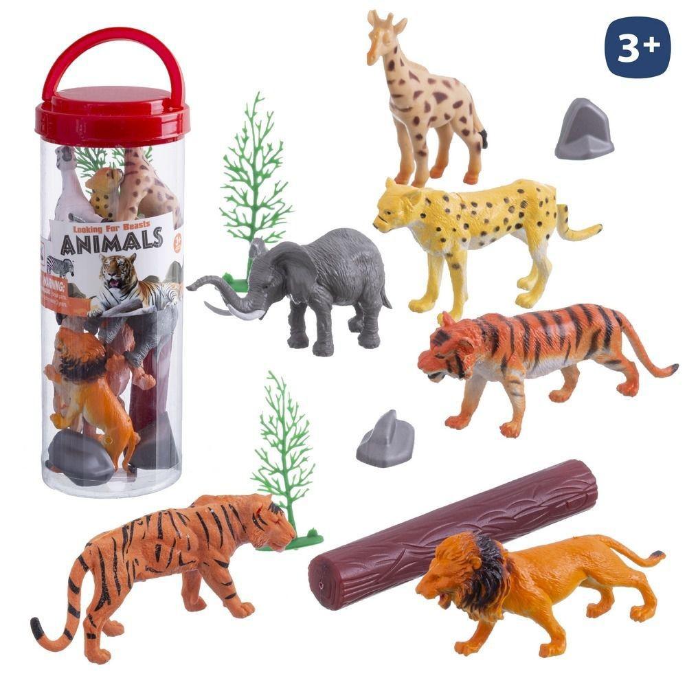 S / 12 JUNGLE ANIMALS