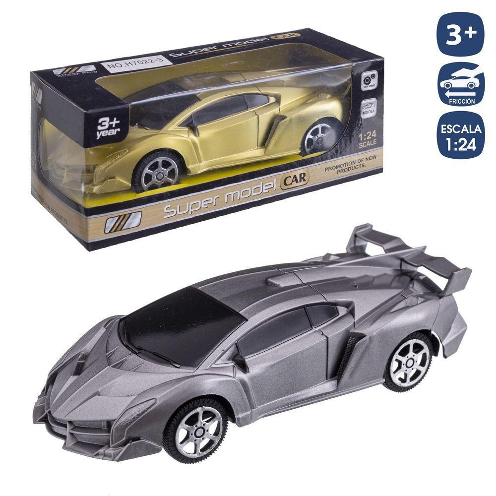 GOLD-SILVER SPORTS CAR