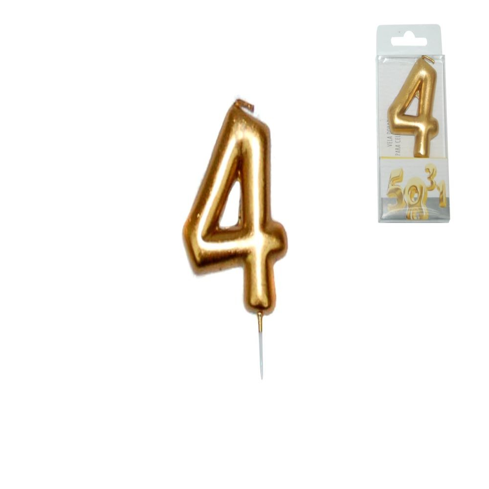 GOLDEN CANDLE NUMBER - 4
