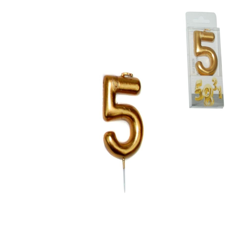 GOLDEN CANDLE NUMBER - 5