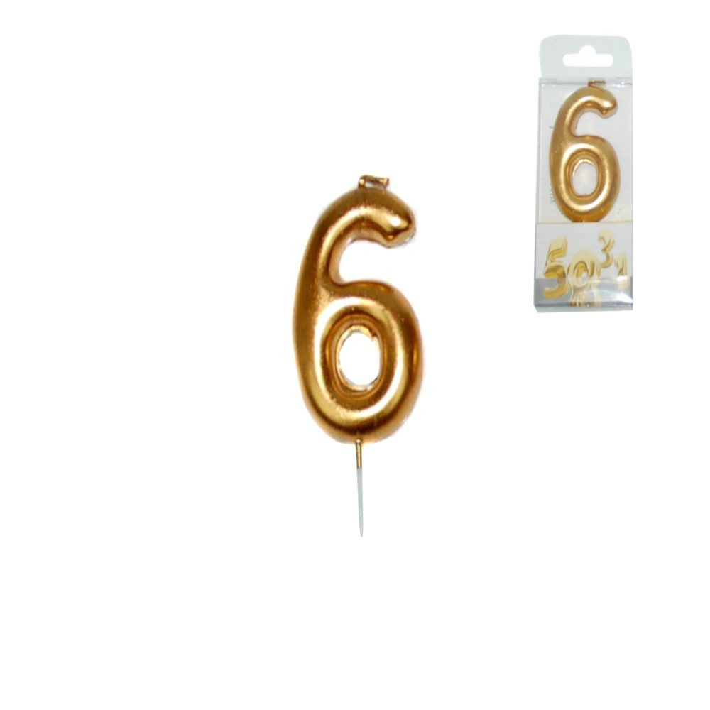 GOLDEN CANDLE NUMBER - 6