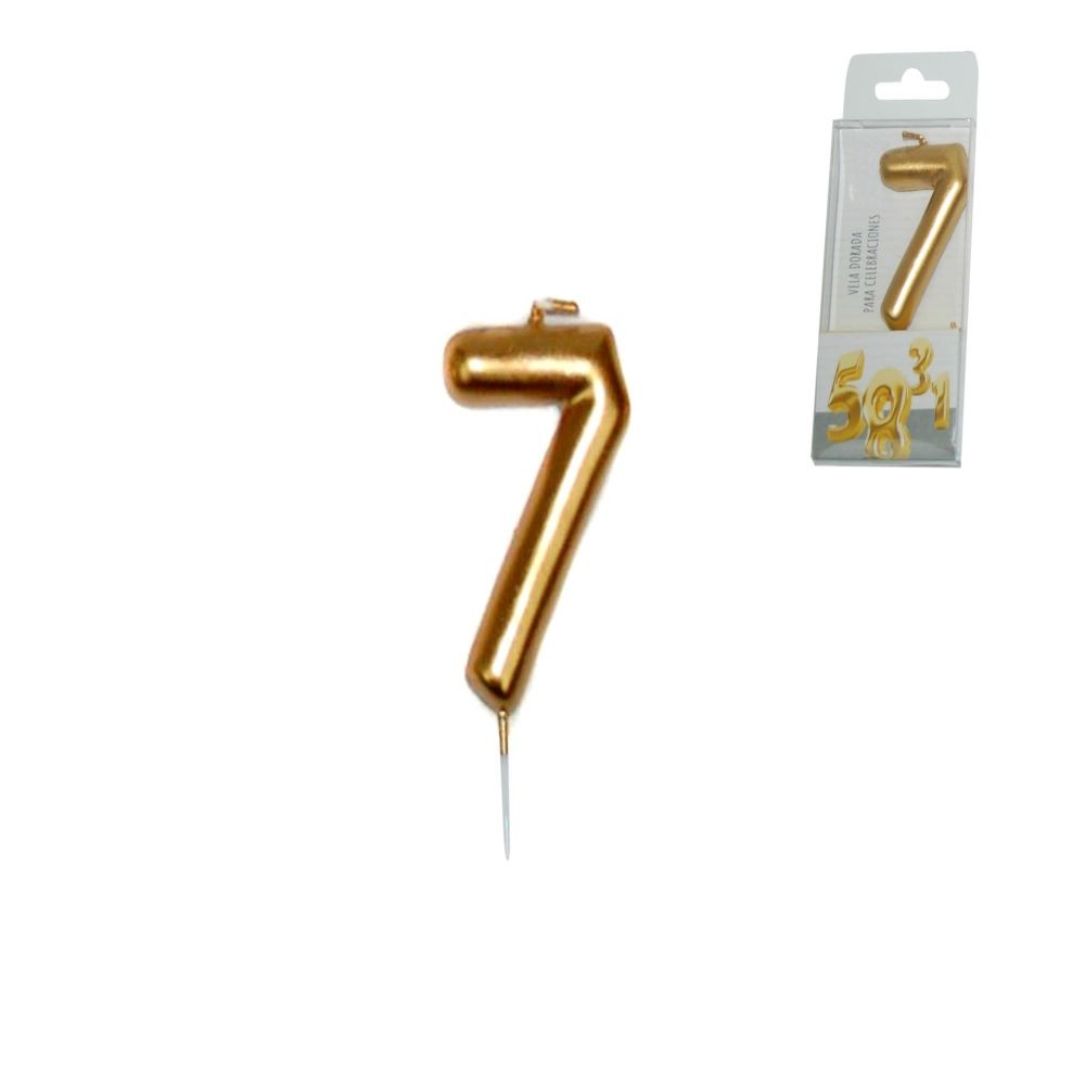 GOLDEN CANDLE NUMBER - 7