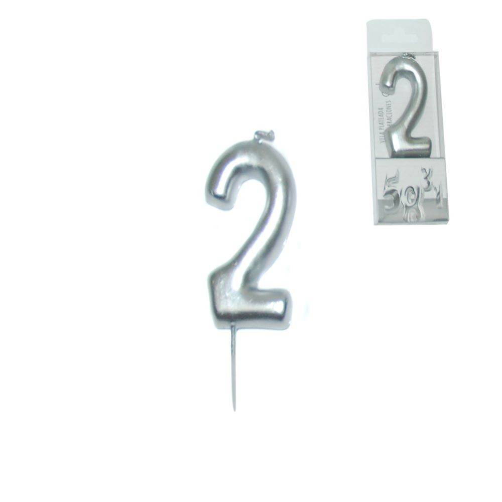 SILVER CANDLE NUMBER - 2