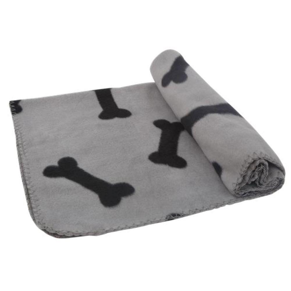Printed pet blanket / gray