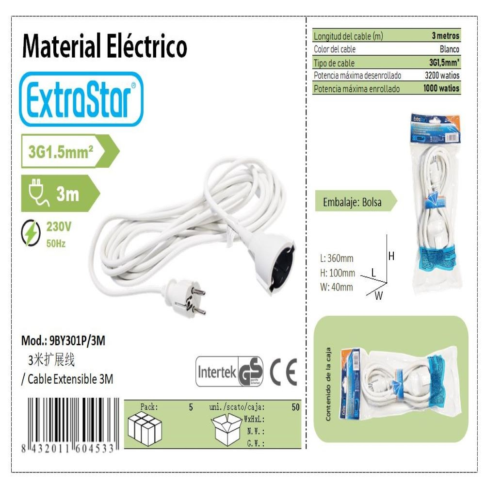 EXTENSIBLE CABLE 3M