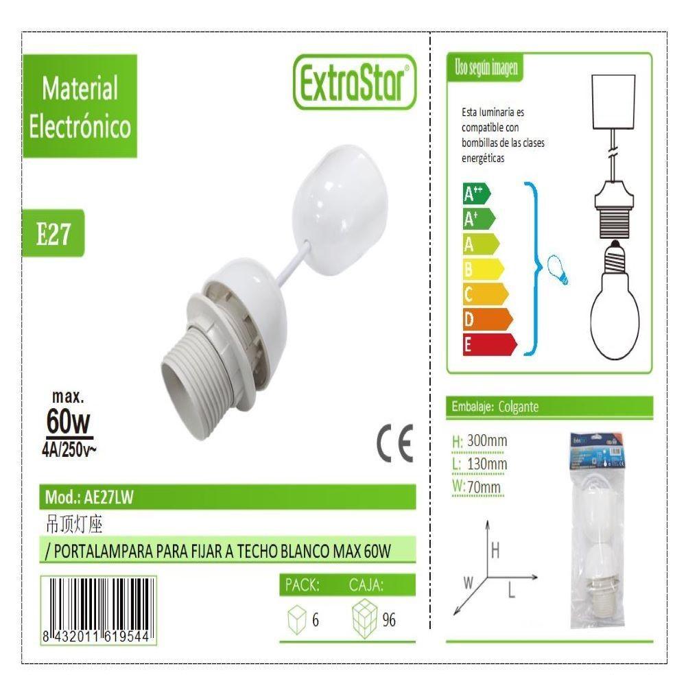 E27 WHITE LAMP HOLDER