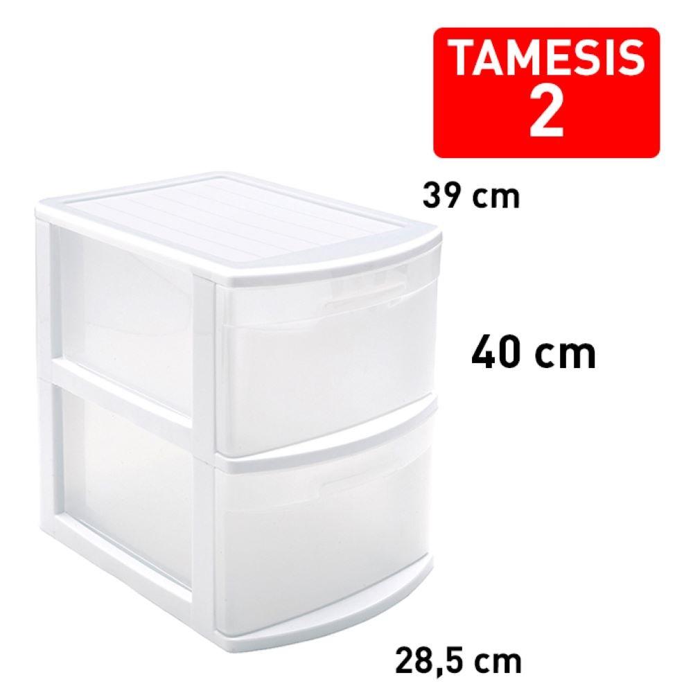 TAMESIS 2 DRAWER WHITE