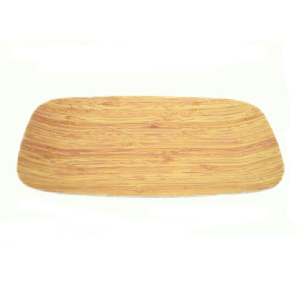 LONG PLATE-BEIGE BAMBOO