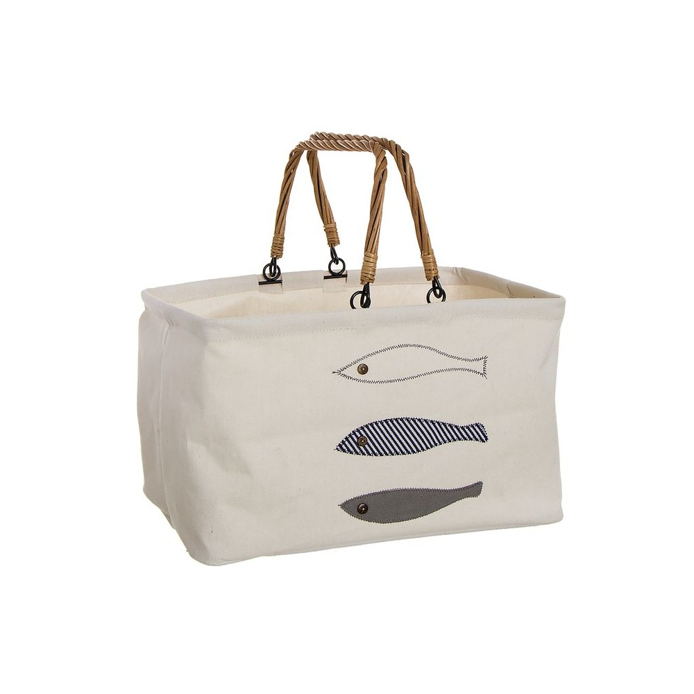 BASKET PATCH FISH-WICKER