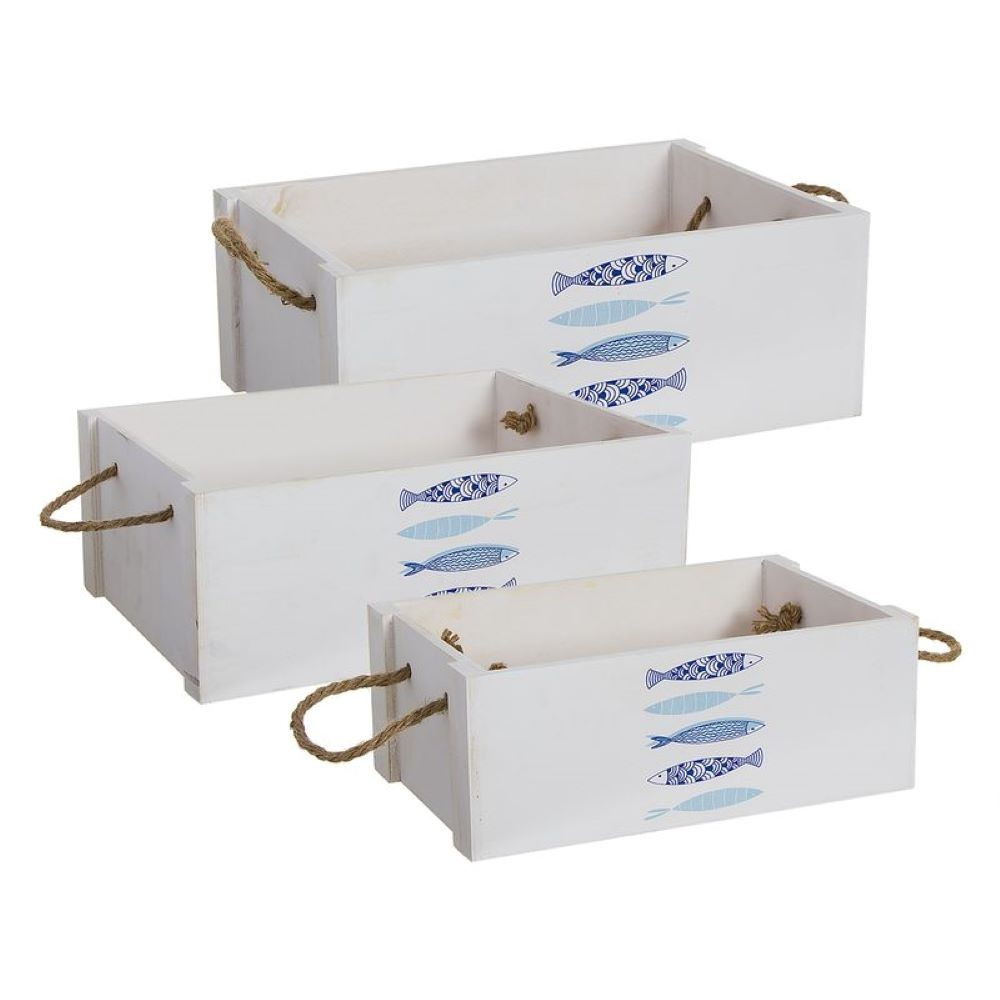 WOOD-FISH BOX 40X28 CM