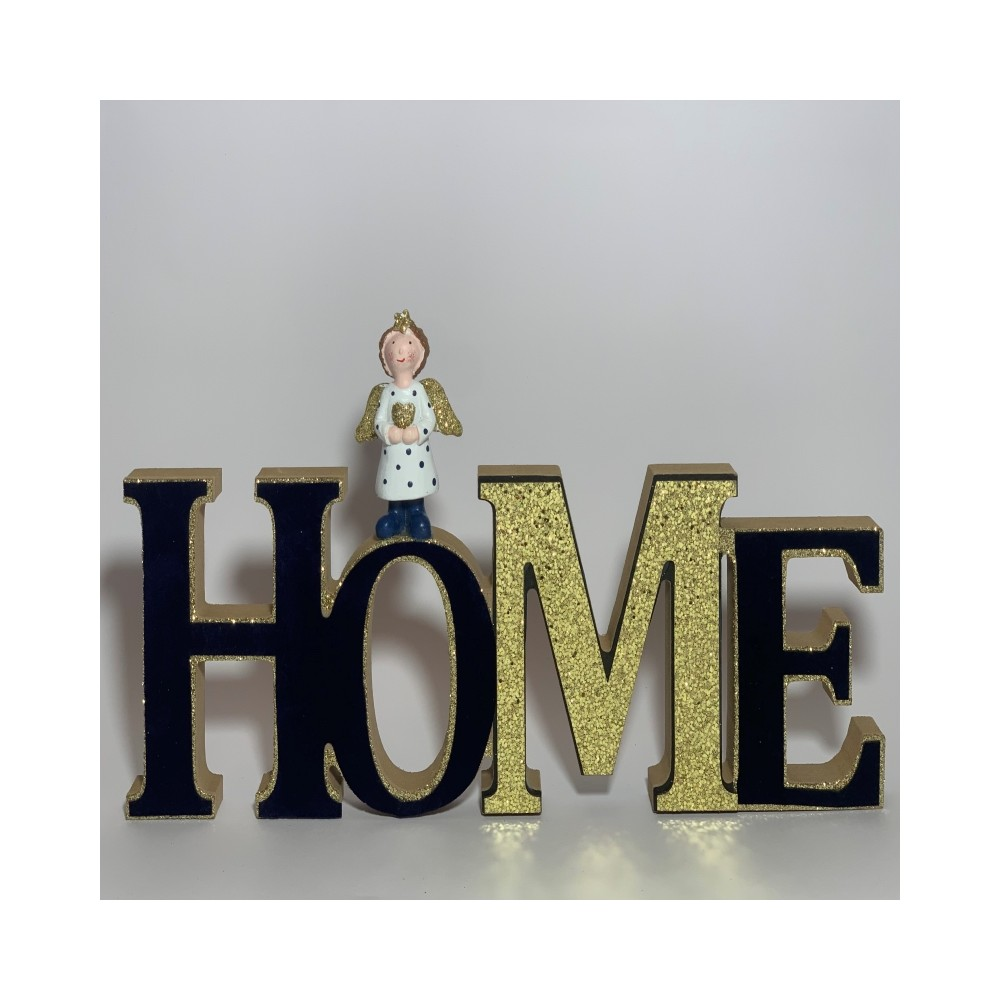 HOME sign with angel