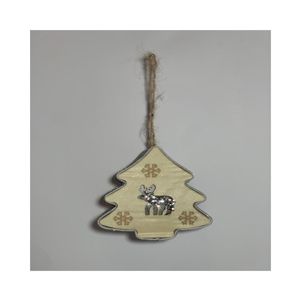 ILED glitter silver pine plug