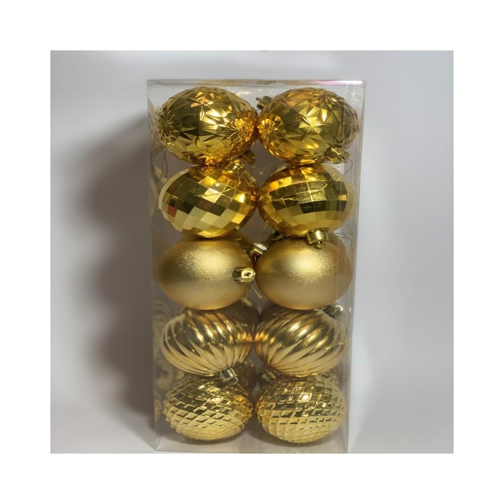 Set of 20 gold balls