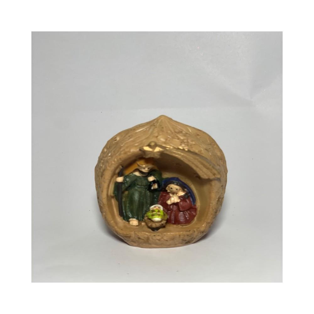 Mini nativity in walnut