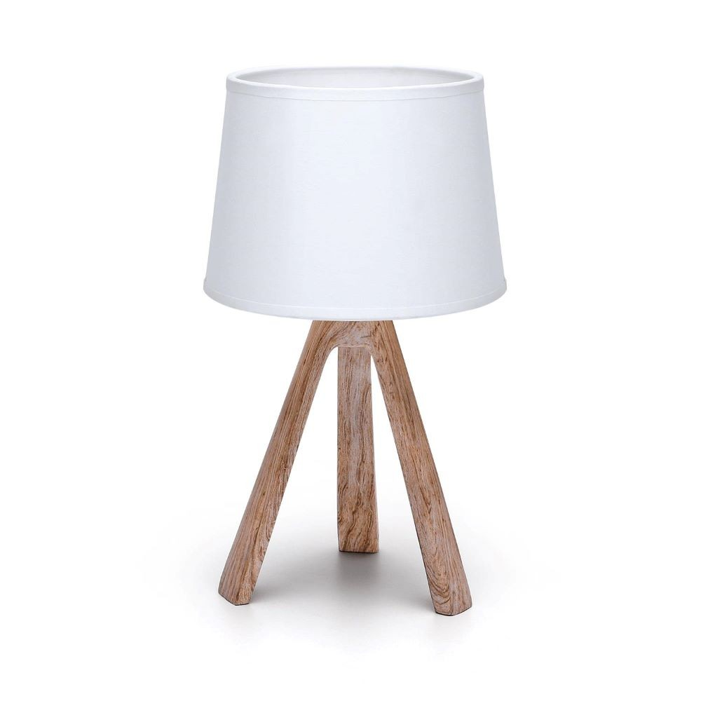WHITE / BROWN TABLE LAMP