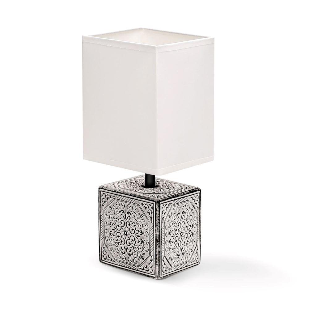 CERAMIC LAMP / WHITE & BLACK